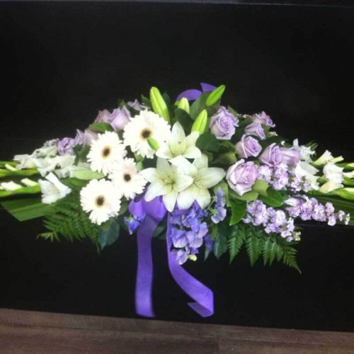 Modern Lilac Flower Arrangement