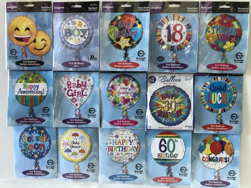 helium balloons (small selection) $15.00 gifts and add on's selection